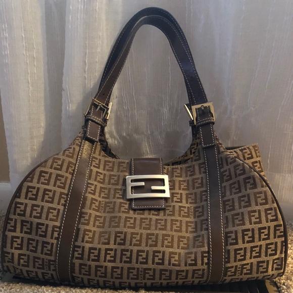 d2cd68d3be Fendi Handbags - Pre-owned Fendi monograph hobo-style shoulder bag!